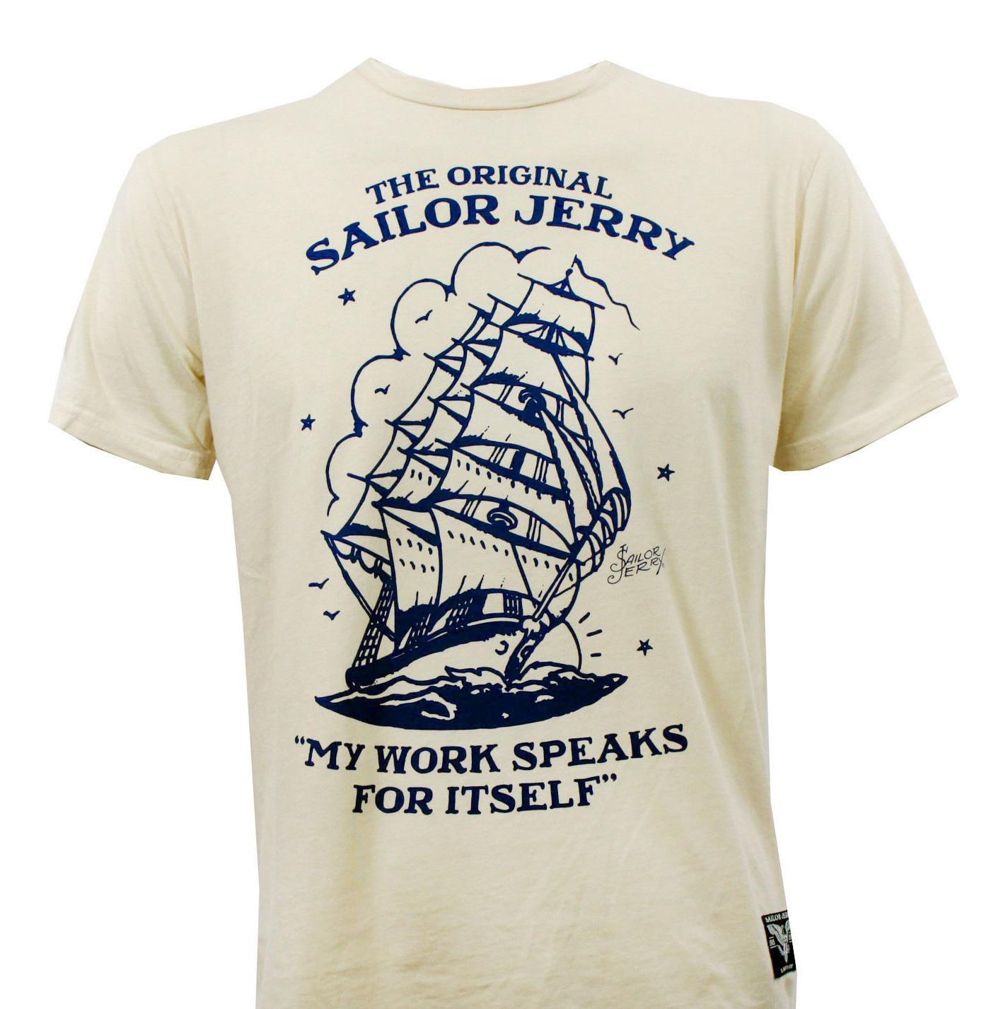 SAILOR JERRY Tattoo Good Work Ain/'t Cheap Slim Fit T-Shirt Black S-2XL NEW