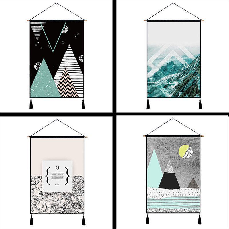 Elegant Geometric Patterns Tapestry Hanging Wall Cotton Cloth Art Beautiful Apartment Home Dorm Room Party Decoration Tapestries