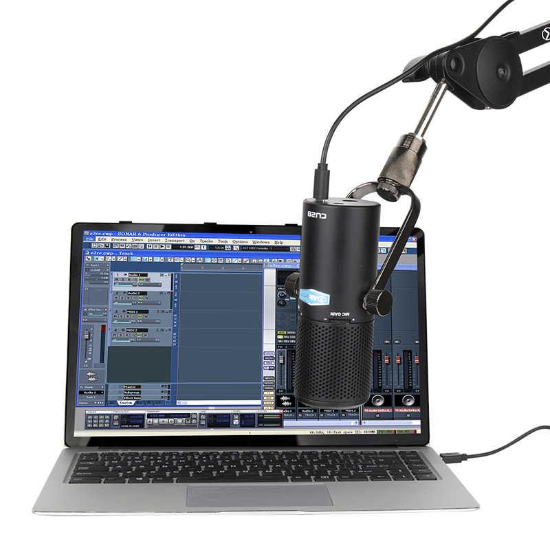 Alctron CU28 подвесной или настольный конденсаторный микрофон с выходом USB для студийной записи