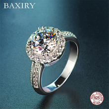 Trendy Gemstones Silver Ring Amethyst Silver 925 Jewelry Aquamarine Ring For Women Cocktaill Rings Engagement Blue Sapphire Ring chic floral faux sapphire ring for women