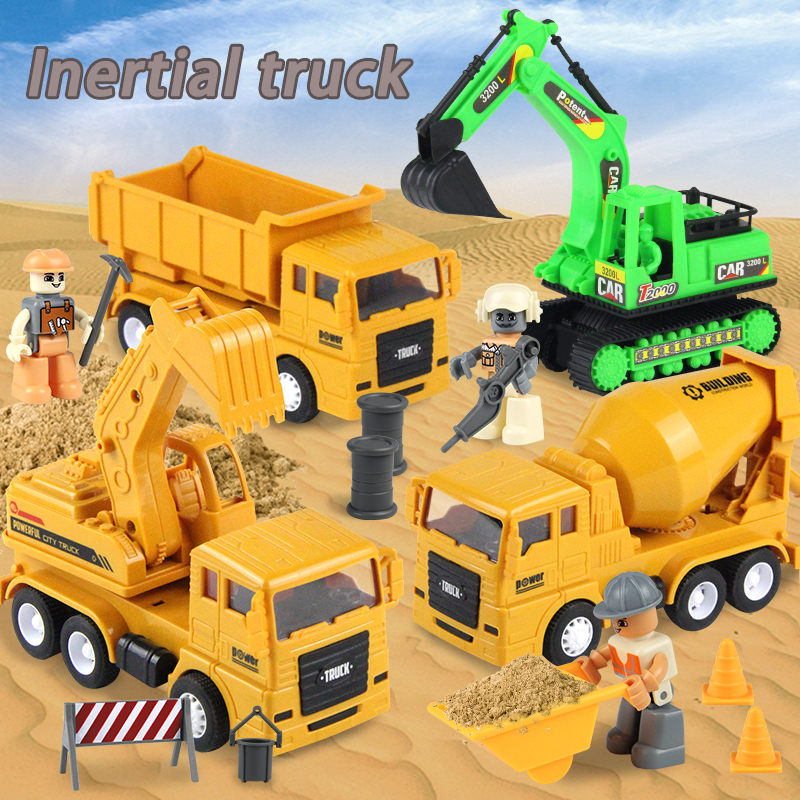 1:48 Big Size Multi-type Engineering Car Mode Dump Truck Excavator Engineering Vehicles Kids Excavator Model Car Toys For Boy