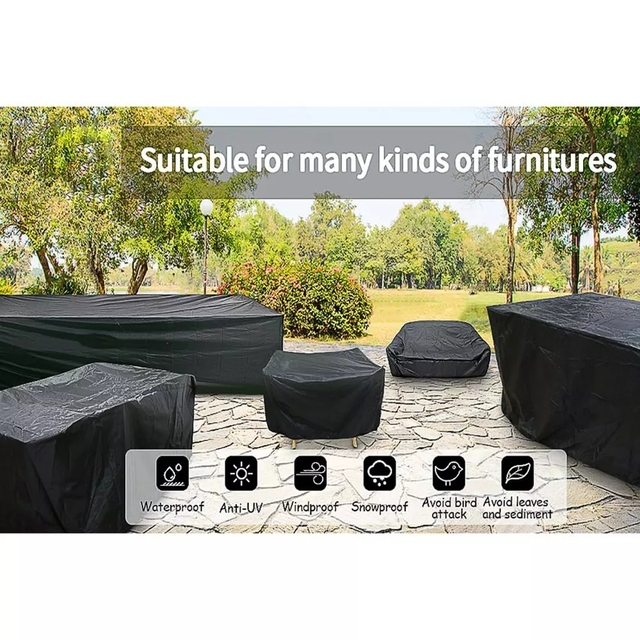72 Sizes Outdoor Patio Garden Black Furniture Waterproof Covers Rain Snow Chair covers Sofa Table Chair Dust Proof Cover 4