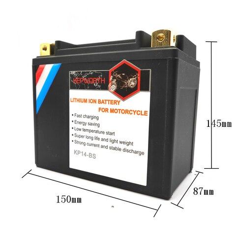 kp14 bs motocicleta lifepo4 bateria cca 520a 12 v 14ah baterias bms com protecao de