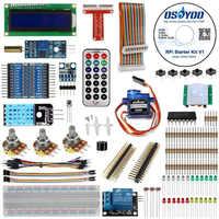 Kit de iniciación a Raspberry Pi 3 final aprendizaje Suite HC-SR501 Sensor de movimiento 1602 LCD SG90 Servo LED relé de resistencias