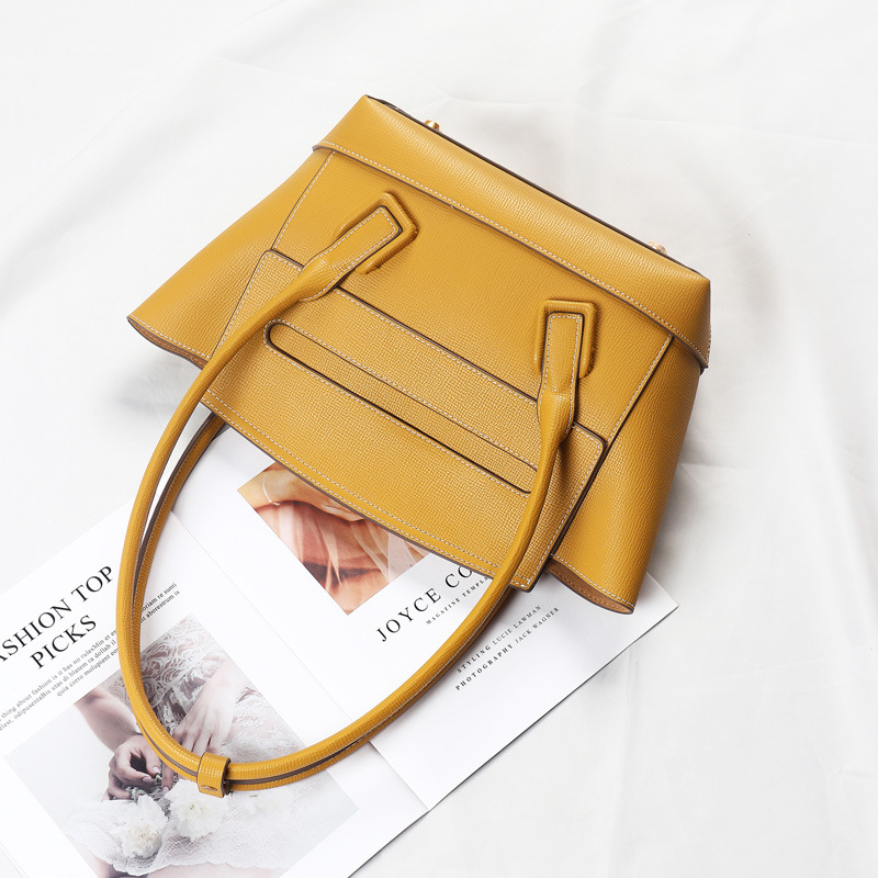 Fashion Style Luxury Handbags Women Bags Designer Simple Hobos Shoulder Crossbody Bags For Women Genuine Leather high quality in Shoulder Bags from Luggage Bags