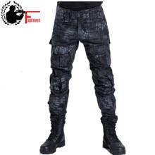 איש מכנסיים טקטי צבאי סגנון הסוואה ציד מכנסיים לגבר צבא עירוני Ripstop רכבת פיתון סרבל מטענים זכר אופנה