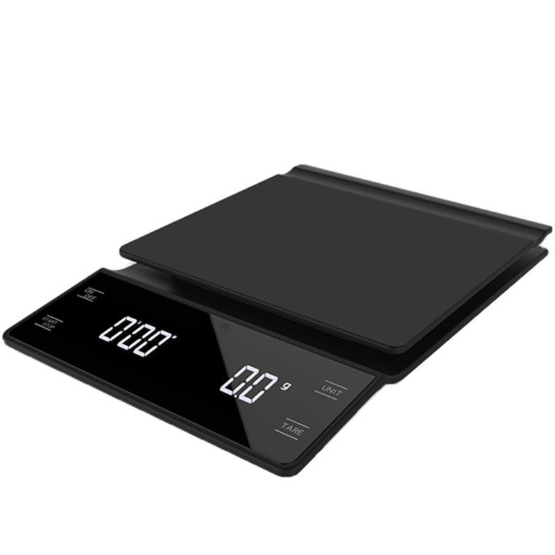 Household Electronic 3kg/0.1g Drip Coffee Scale With Timer High Precision LED Electronic Digital Kitchen Scale