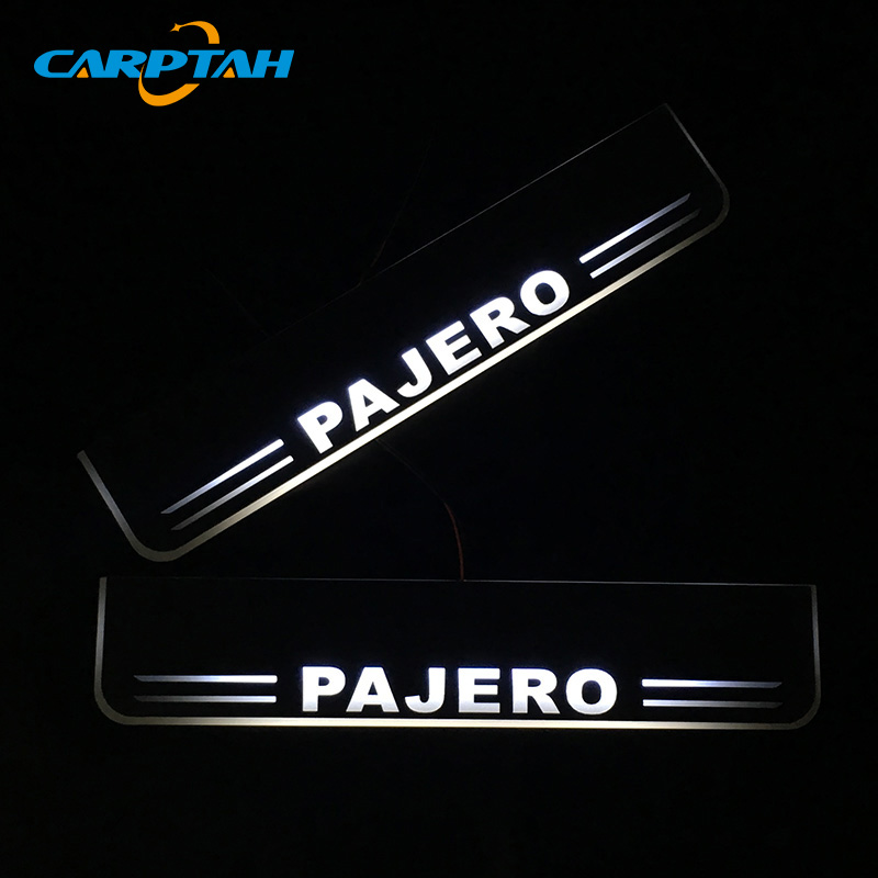 CARPTAH Trim Pedal Car Exterior Parts LED Door Sill Scuff Plate Pathway Dynamic Streamer light For Mitsubishi Pajero 2016   2018|Nerf Bars & Running Boards|Automobiles & Motorcycles - title=