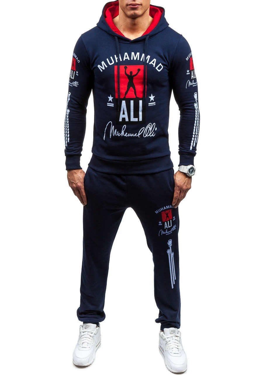 AliExpress Europe And America Fashion MEN'S Suit Large Size Slim Fit Sports Clothing Hoodie Men's
