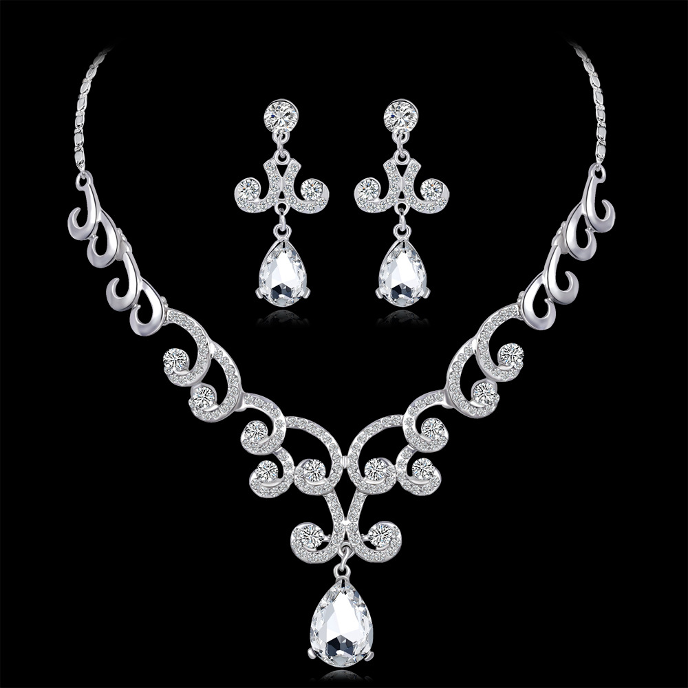 wedding bride  jewelry sets ,crystal earrings necklace