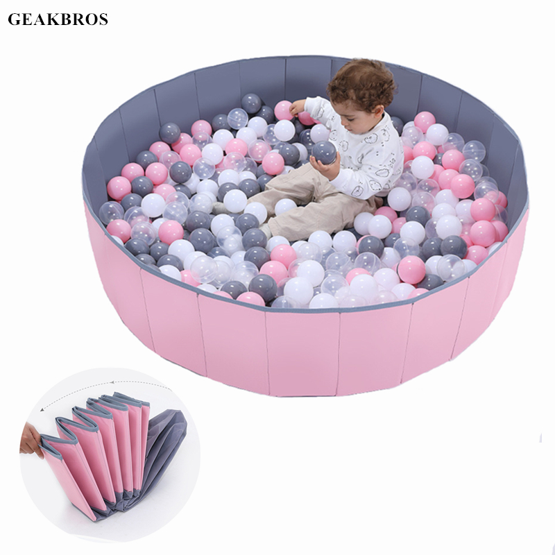 120cm*30cm Children Foldable Ocean Ball Pool Toys Baby Indoor Playground Washable Anti-Skid Folding Fence Kids Christmas Gift