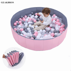120cm * 30cm crianças dobrável oceano bola piscina brinquedos bebê indoor playground lavável anti-skid dobrável cerca crianças presente de natal