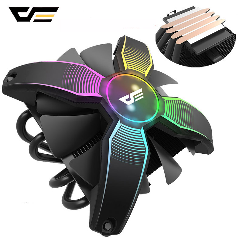 darkFlash CPU <font><b>Cooler</b></font> Heatsink RGB PC Case Fan 120mm 4Pin TDP 120W 4 Copper Heatpipes CPU Cooling for LGA1151/1155/<font><b>1156</b></font>/1366/AM4 image