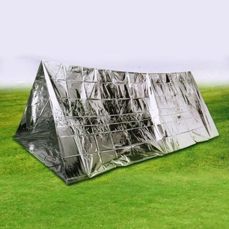 New Outdoor Waterproof Emergency Survival Rescue Blanket Foil Thermal First Aid Sliver Rescue Blanket Survival Camping Shelter