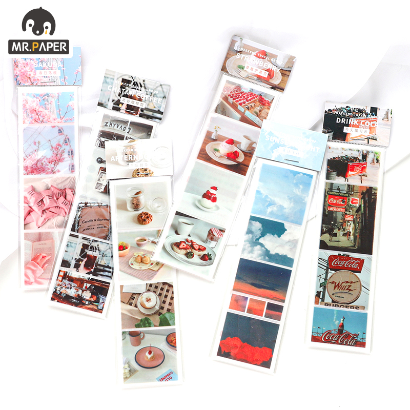 Mr.Paper 6 Designs Weekend Series Ins Bullet Journaling Washi Tapes Deco Bullet Journal Tour Stickers Scrapbooking Masking Tapes