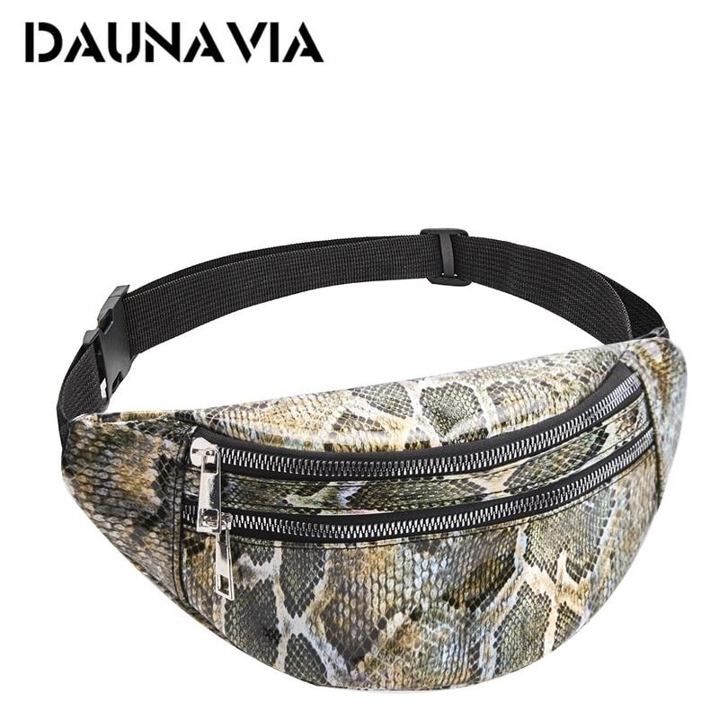DAUNAVIA Waist Bag Women New Fashion Serpentine Belt Bag Chest Bag Ladies Travel Fanny Pack Designer Female Belt Purse For Women