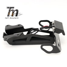 Registration License Plate Frame Holder For YAMAHA MT-09 FJ-09 MT09 Tracer FJ09 MT/FJ 09 2015-2018 2016 2017 Fender Bracket LED стоимость