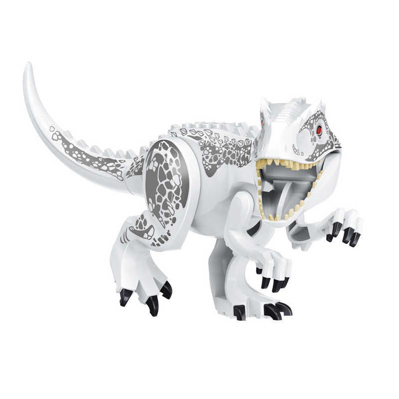 الجوراسي الديناصورات أرقام الطوب الديناصور العالم Indominus ريكس I-ريكس تجميع اللبنات طفل لعبة Dinosuar