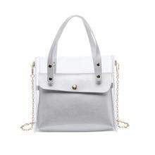 PVC Bag 2020 Summer New Chain Japan and South Korea Transparent  Laptop Shoulder Clutch PU leather bag