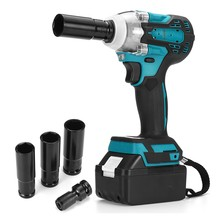 388vf Brushless Cordless Electric Impact Wrench 1/2 inch Power Tool For Home 15000Amh Li Battery For Makita 18V Battery