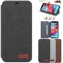 Case For iPhone 11 Pro 11 Pro Max Flip Case Canvas Case for