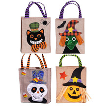 Halloween Gift Bag Pumpkin Black Cat White Ghost Witch Cute Little Handheld Festival Candy Animal Backpack