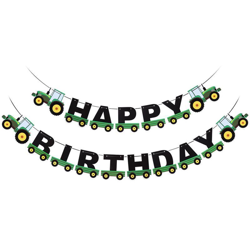 Трактор День рождения баннер трактор гирлянда бандаж для трактора День Рождения украшения, товары для вечеринки день рождения письмо тянут...