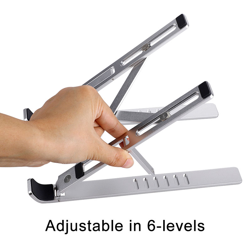 Aluminum Alloy Adjustable Laptop Stand Folding Portable Holder for Notebook MacBook Computer Bracket Lifting Cooling Holder New