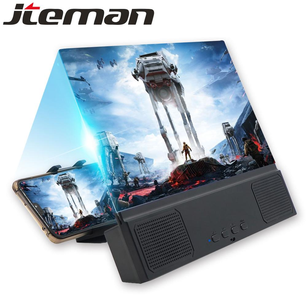 12 Inch HD Stend Screen Amplifier With Bluetooth Speaker For Foldable Stand 3d Screen Versterker Ampliar Pantalla Movil Magnifie