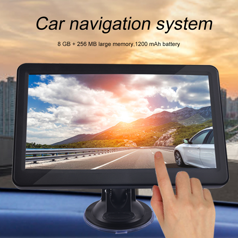 Car GPS Navigation Device for Car Truck Car Touchscreen 7 Inch 8G 256M Voice Guide Flash Warning with PO Update Map
