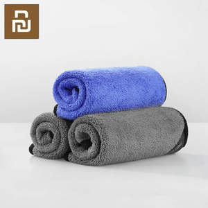 Image 1 - Xiaomi 30*30/30*60 Car Cleaning Towel Soft Cloth Duster Microfiber Car Wash Towel Water Absorption Anti Static Wash Towel