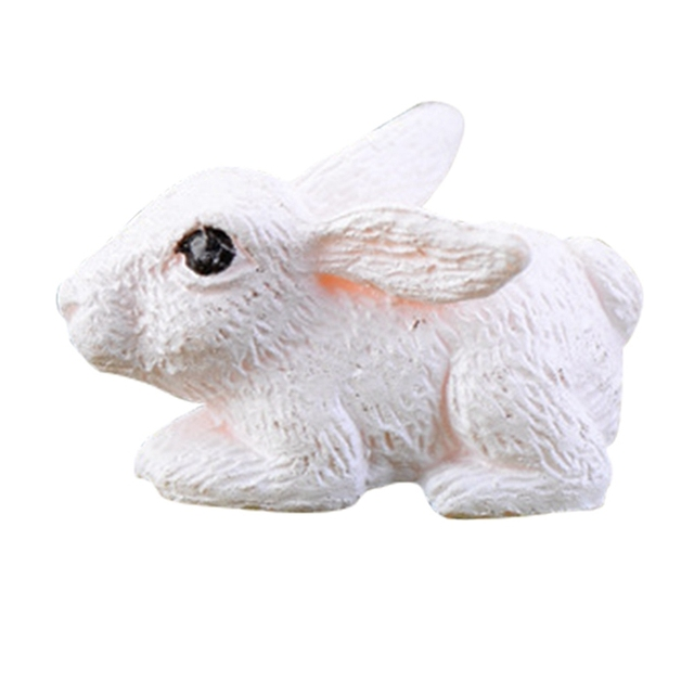 Mini Rabbit Garden Ornament Miniature Figurine 2