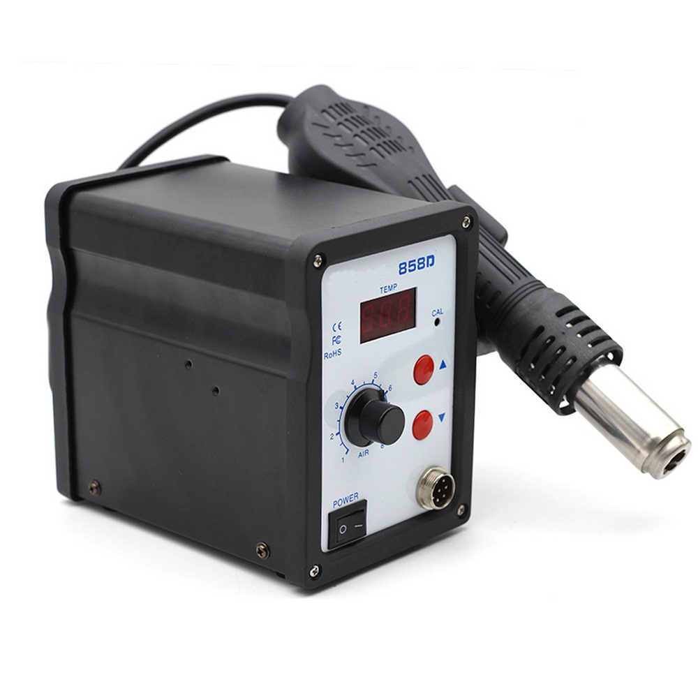 Hot Air Desoldering Station700W LED Digital Hot Air Gun Desoldering Solder Rework SMD Station Temperature Adjustable Repair Tool