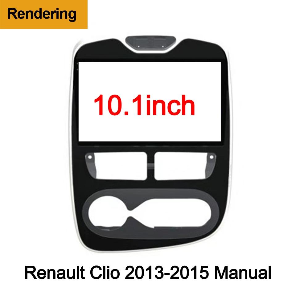 2Din Car DVD Frame Plug Audio Fitting Adaptor Dash Trim Kits Facia Panel 10.1inch For Renault Clio 2013-2018 Double Radio Player