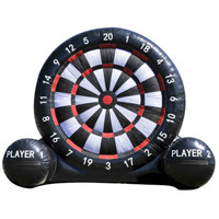 3/4/5m Free Shipping High Giant Inflatable Toys Foot Darts Boards Football Soccer Outdoor Stands Sports Game With Ball Blower