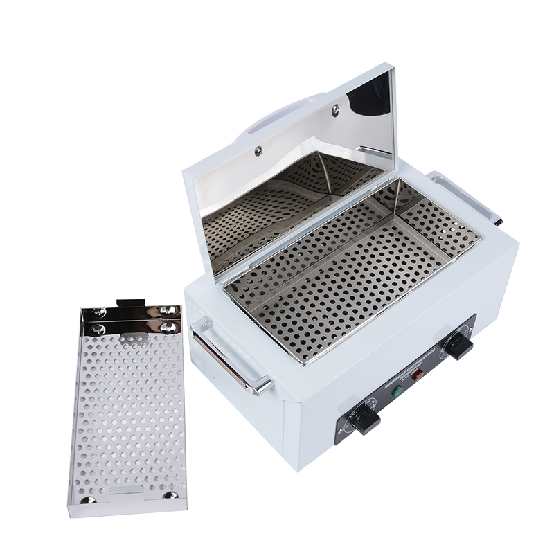 220V Hot Air Sterilizer Sterilizer Cosmetic Foot Care Tattoo Nail Disinfection Machine EU PLUG Stainless Steel Tank Tool HWC