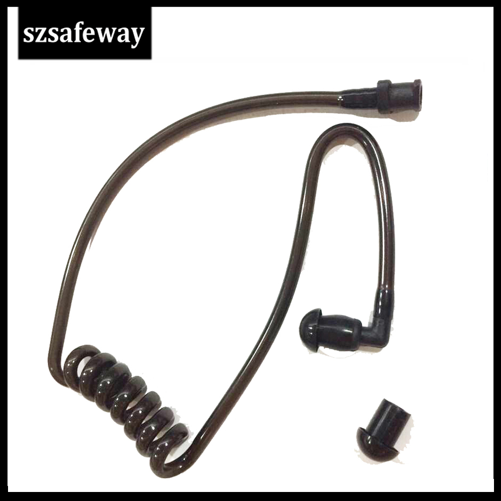 Detachable Replacement Black Acoustic Tube Clear Coil Tube  For Baofeng Walkie Talkie Tube Earphone For Baofeng Earpiece
