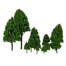 12 pces 2.5-16cm misturou árvores modelo para diorama de trem modelo, artesanato diy, cenário de jogos de guerra ou scenics de construção