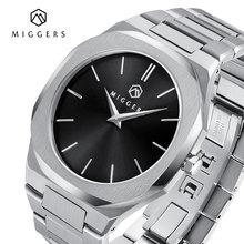 MIGGERS мужские часы кварцевые минималистичные из нержавеющей стали бизнес мужские часы модный топ бренд класса люкс 2020 водонепроницаемые 50 м мужские часы часы женские часы наручные