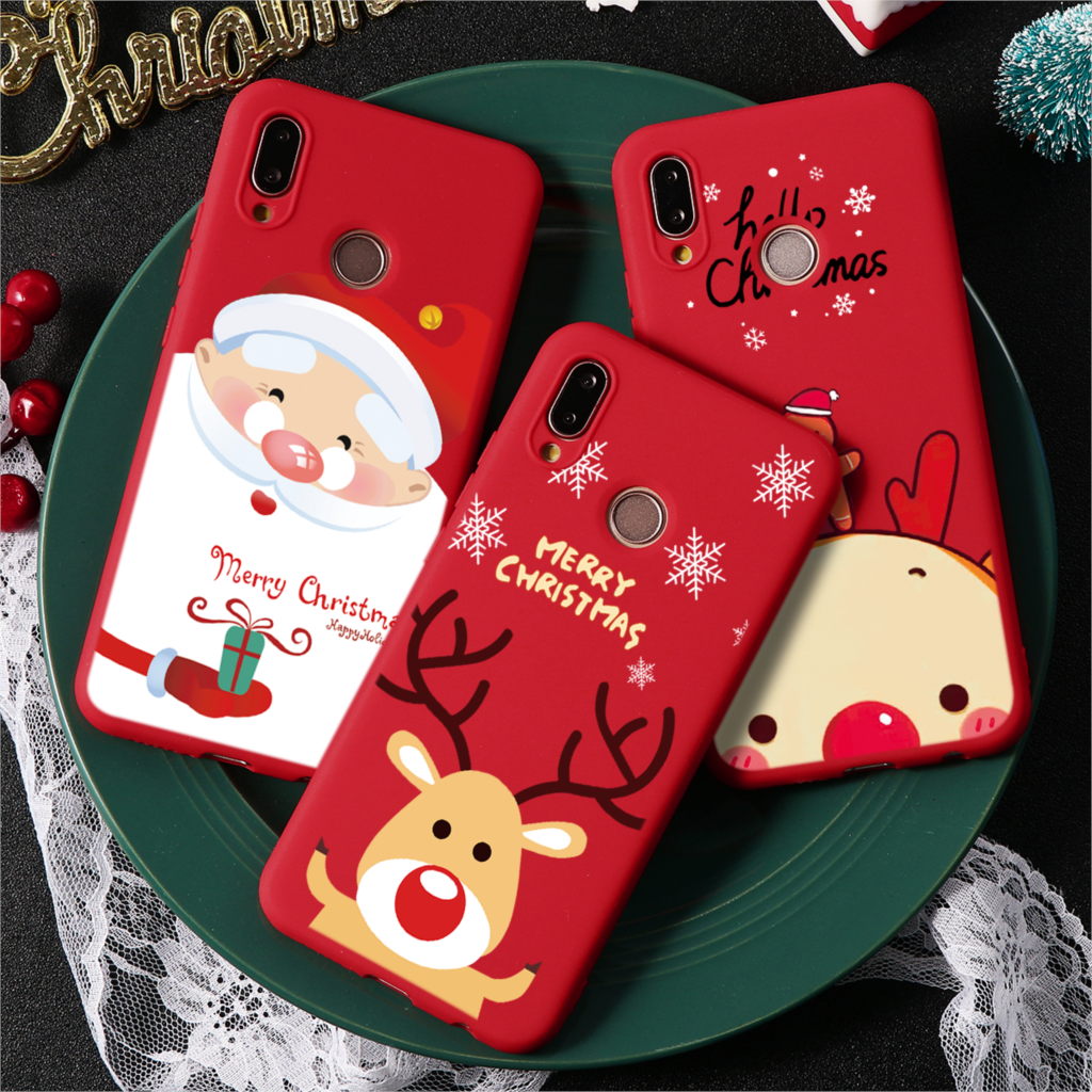 New Year Merry Christmas Case For Huawei P30 P20 P10 P9 P8 2017 Nova 2i 3i 4e 5 Mate <font><b>30</b></font> 20 10 Pro <font><b>Lite</b></font> <font><b>P</b></font> samrt 2019 Matte Soft image