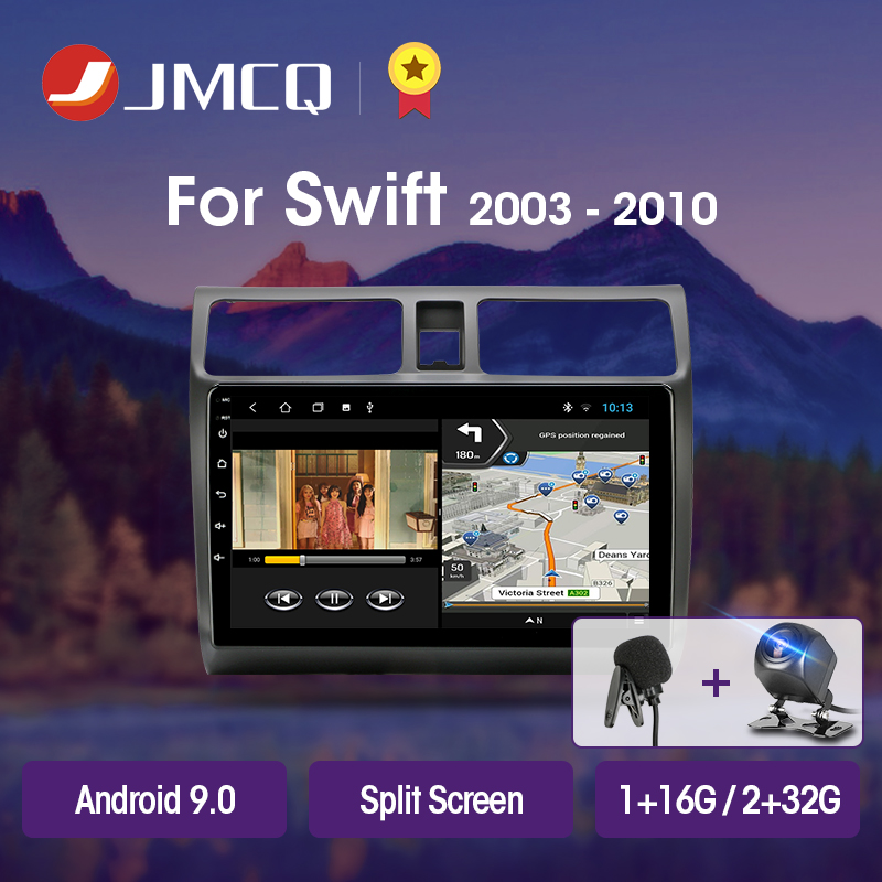 JMCQ T3L For <font><b>Suzuki</b></font> <font><b>Swift</b></font> 2005-2010 Car Radio Multimedia Video Player Navigation GPS <font><b>Android</b></font> 9.0 DSP 2din 2 Din IPS Head Unit image