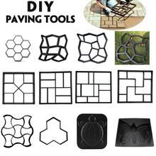 DIY Kunststoff Pfad Maker Mold Manuell Pflaster Zement Ziegel Stein Straße Pflaster Form Beton Formen Werkzeug für Garten Pflaster Zubehör