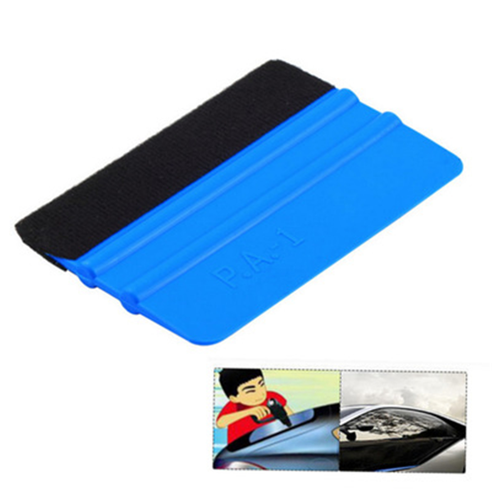 Image 3 - Vinyl Wrap Film Felt Squeegee Carbon Fiber Wrapping Tool Auto Foil Window Tint Household Cleaning Tool Car Ice Scraper-in Scraper from Automobiles & Motorcycles