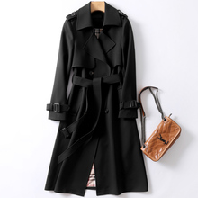 NEW Trench coat women's long 2019 spring and autumn new slim slim popular knee-l