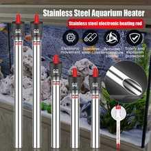 Tige de chauffage Submersible réglable de Thermostat d'appareil de chauffage d'aquarium d'acier inoxydable 220V pour l'aquarium 50W/100W/200W/300W/500W