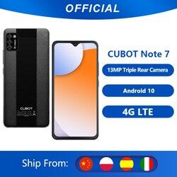 Cubot Note 7 смартфон AI тройные камеры 13МП 5,5 дюйм экран капли воды 3100 мАч 4G LTE Сети Google Android 10 две sim-карты мобильный телефон 2ГБ RAM+16ГБ ROM Поддержка Распо...