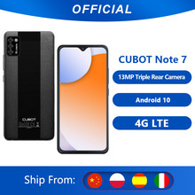 Cubot Note 7 cellulare Android 10 Triple Camera 13MP 4G LTE Dual SIM Card Celular 5.5