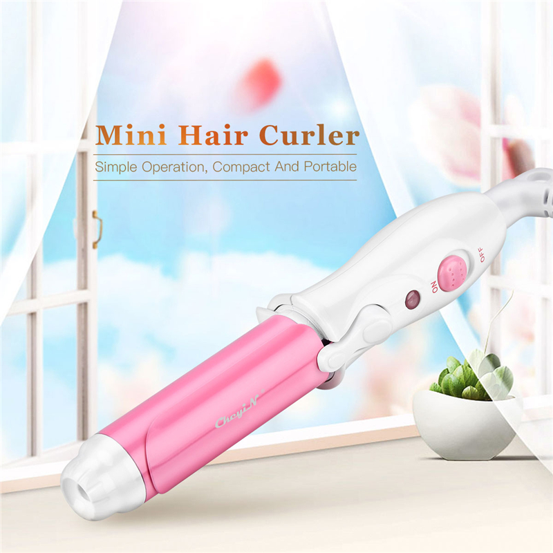 2 Colors Portable Mini Curling Iron Tongs Magic Hair Curler Roller Ceramic Hair Curler Wand DIY Wave Hair Care Styling Tools