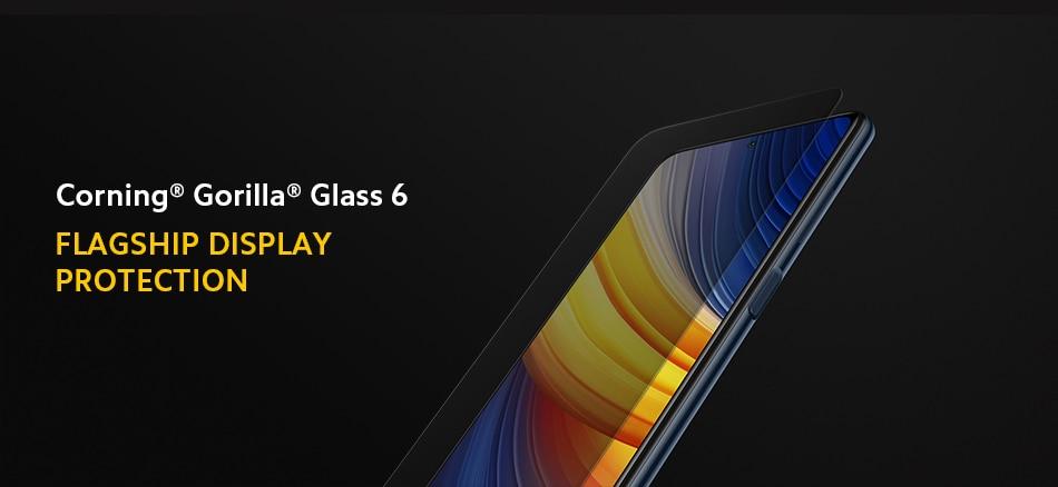 POCO X3 Proのディスプレイガラスはゴリラガラス6
