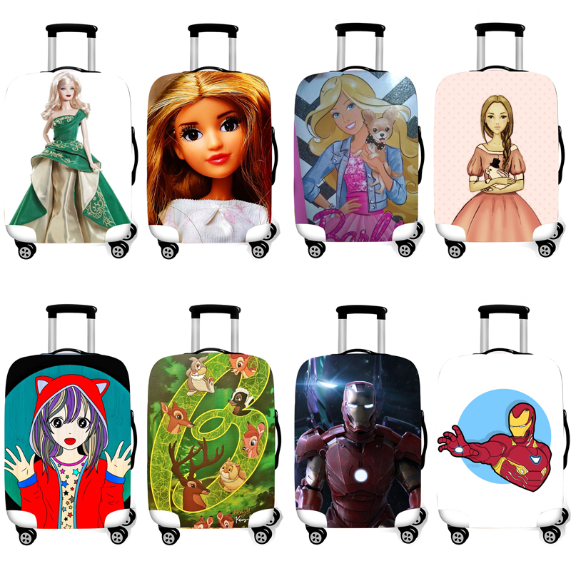 Elastic Luggage Protective Cover Case For Suitcase Protective Cover Trolley Cases Covers 3D Travel Accessories Barbie Pattern T3